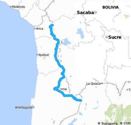 Ruta Andina y desierto de Atacama