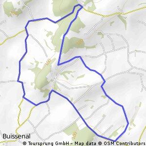 klimroute (5 km bergop)