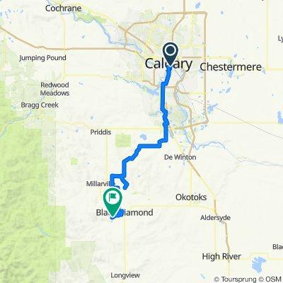 2. Calgary Hostel -  Turner Vally  85Km /630Hm