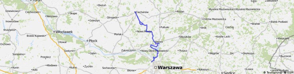 Most Pn- Nieporęt, Serock, Winnice, Strzegocin, Gasocin, Ciechanow, Golotczyzna,Gasocin 155km