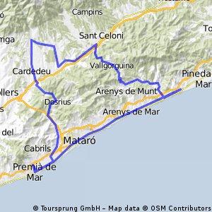 COLLET/CARDEDEU/ST.ANTONI/COLLSACREU/CALELLA/PREMIÀ