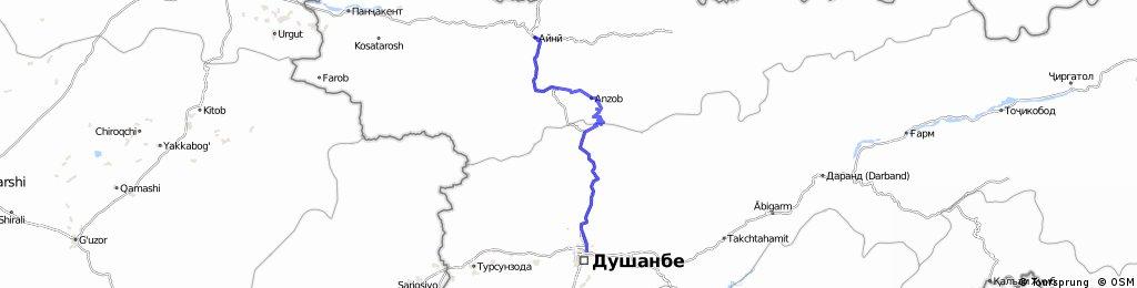 Samarkand – Anzop-Pass –Duschanbe