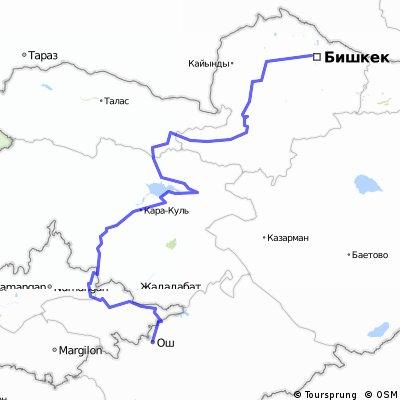 osh – Toktogul – Bishkek