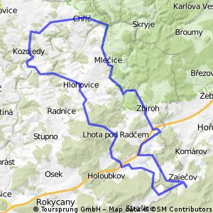 Zaječov - Liblín - Zvíkovec - Zaječov