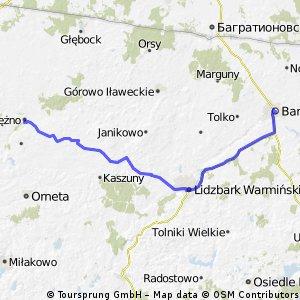Dzień czwarty: Pieniezno - Lidzbark Warmiński - Bartoszyce.