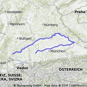 od izvira Donave do Passaua