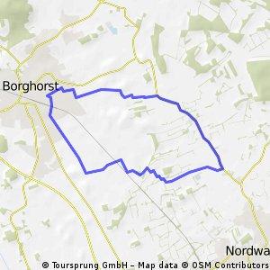 Runde von Borghorst über den Scheddebrock und zurück