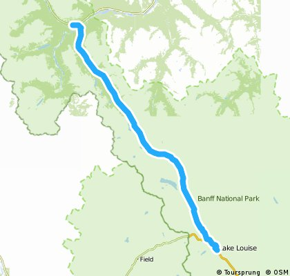 The Saskatchewan River Crossing - Lake Louise