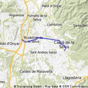 Cassa de la Selve naar Hotel Salles