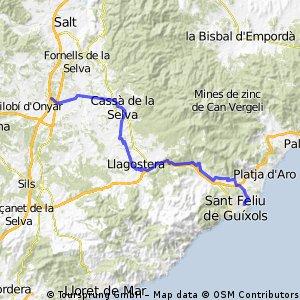 San Feliu naar Hotel Salles