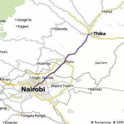 Cycle for Heart 2014, Thika to Nairobi