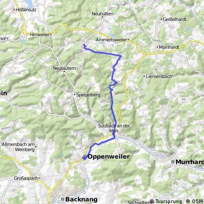 Oppenweiler - Wüstenrot über Fischbachtal