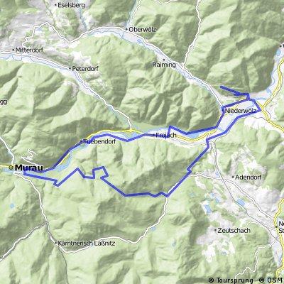 Lassnitz/Lambrecht-Murau-Frojach-Niederw.-Lindberg-Scheifling-Teufenbach CLONED FROM ROUTE 242313