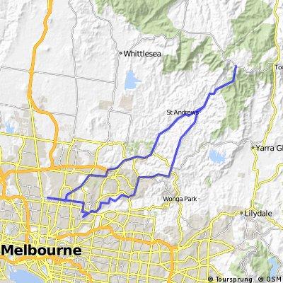 100 Km Route (1500 m)