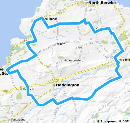 Longniddry - East Linton - Gullane loop