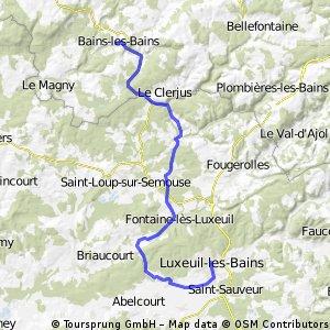 Circuit de liaison vers Luxeuil
