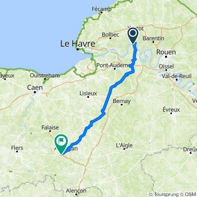 2014 Dieppe - La Flotte day 2 Hotel Le Faisan Dore Rest  137km