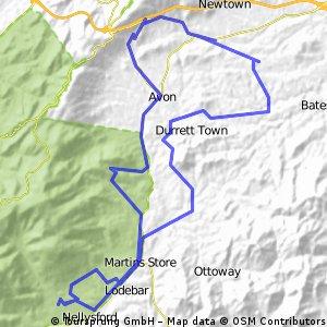 Afton Mountain rd climb - Plank rd - Batesville rd loop