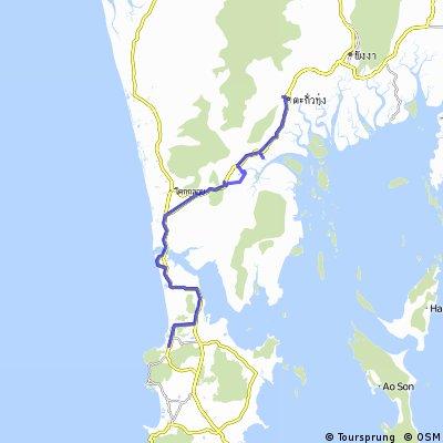 J22 - Nai Yang (Phuket) - Takua Thung (15 kms de Phang Nga)