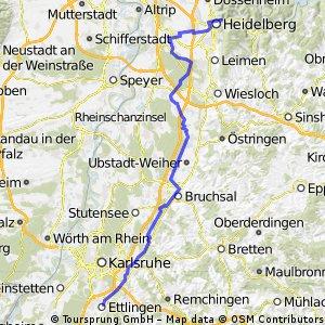 Paneuropa Karlsruhe nach Heidelberg