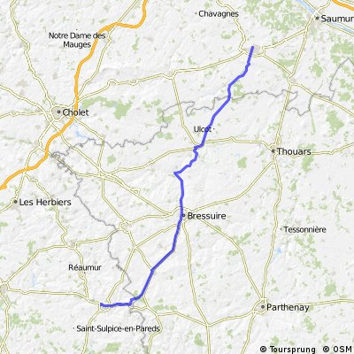 La Chataigneraie to Doue-la Fontaine Day 9 86 km