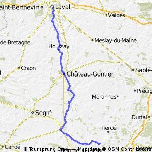 Briollay Laval Day 11 87 km