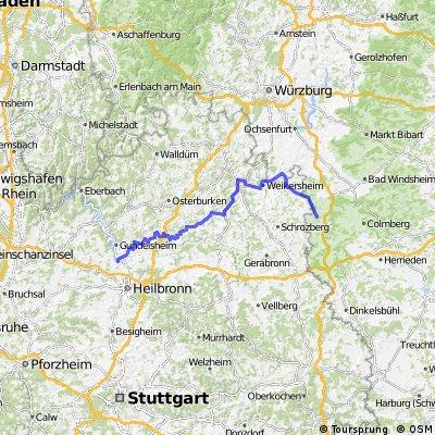 Bad Wimpfen bis Rothenburg ob der Tauber