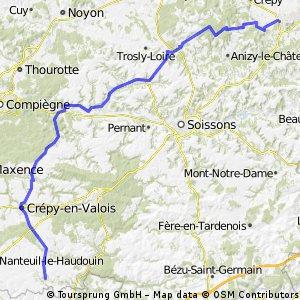 Dag 6 Laon - Arcy en Multien - 101 km
