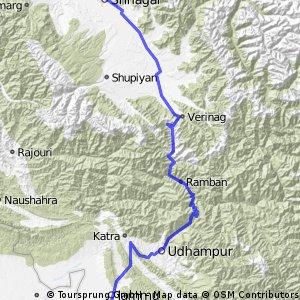 Srinagar to Jammu