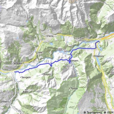 Rheinroute Ilanz- Reichenau/Tamins