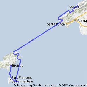 Isole Baleari in bici e barca