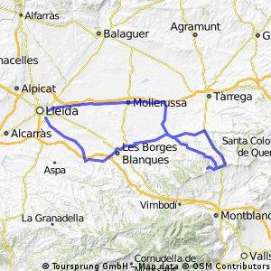 Bellpuig-Santuari Tallat-Castelldans