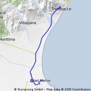 Trebisacce - Sibari Marina (24,79 km)