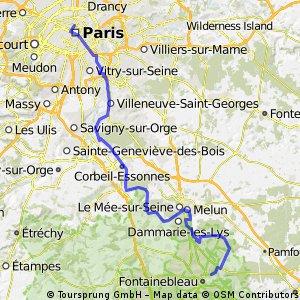 Paris-Fontainebleau par la Seine