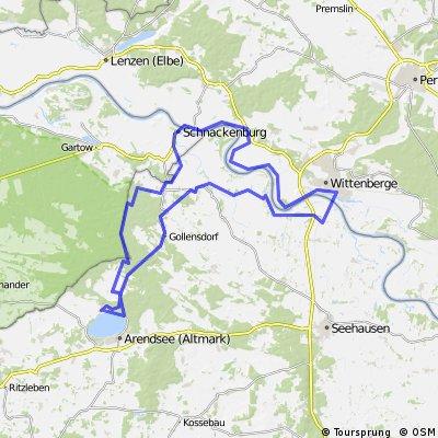 """Grenzlandtour am """"Grünen Band"""" 80 Km"""