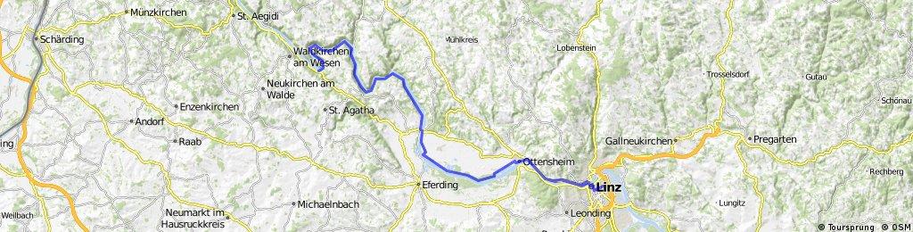 2.Etappe Schlögen Linz