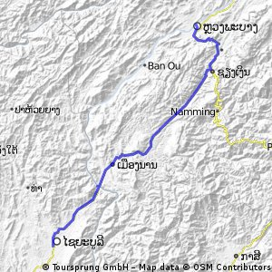 Cycling routes and bike maps in and around Xaignabouli Bikemap