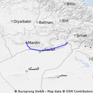Cycling routes and bike maps in and around Mardin Bikemap Your