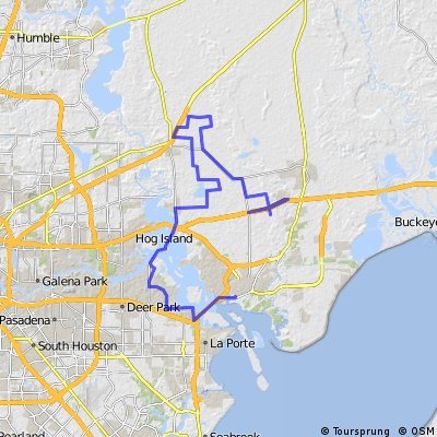 Cycling routes and bike maps in and around Baytown Bikemap Your