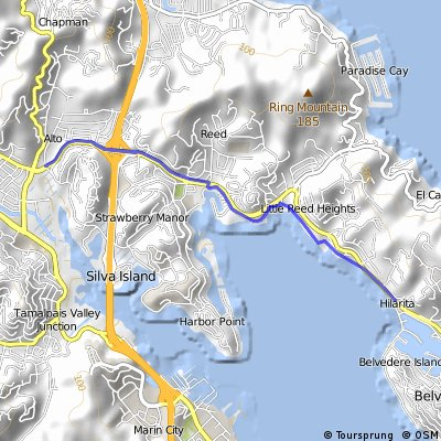 NDeL: Tiburon Lagoon to NE Marin Bike Path