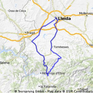 Flix Bovera Granadella Torrebesses Lleida
