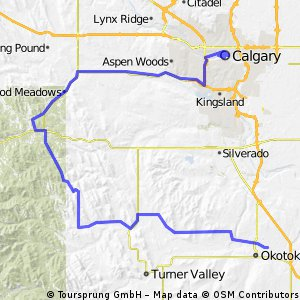 Cycling routes and bike maps in and around Okotoks Bikemap Your