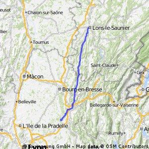Lons le Saunier Richtung Chatillon La Palud