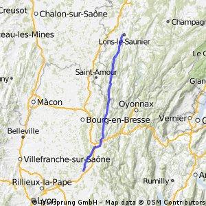 Lons le Saunier nach Pont-d'Ain