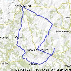 Rochechouart 46km