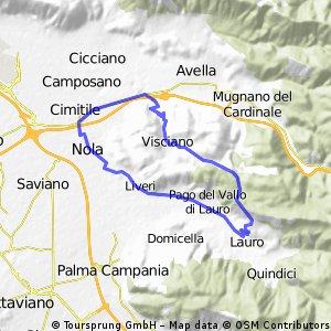 giro rotonda San Paolo Visciano Taurano