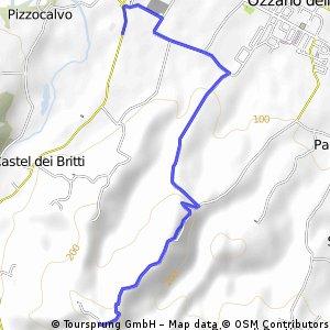 Salita di via san cristoforo-Ozzano emilia