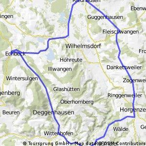 Tour über Horgenzell d.Deggenhausertal