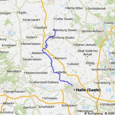 Saaleradweg 6. Etappe Halle - Nienburg