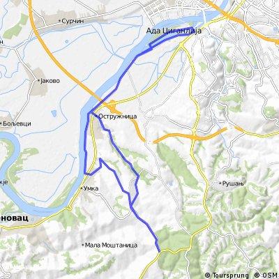 Mostanica (BG - Ostruznica - Umka - V. Mostanica - Ibarska - V. Mostanica - Ostruznica - BG)